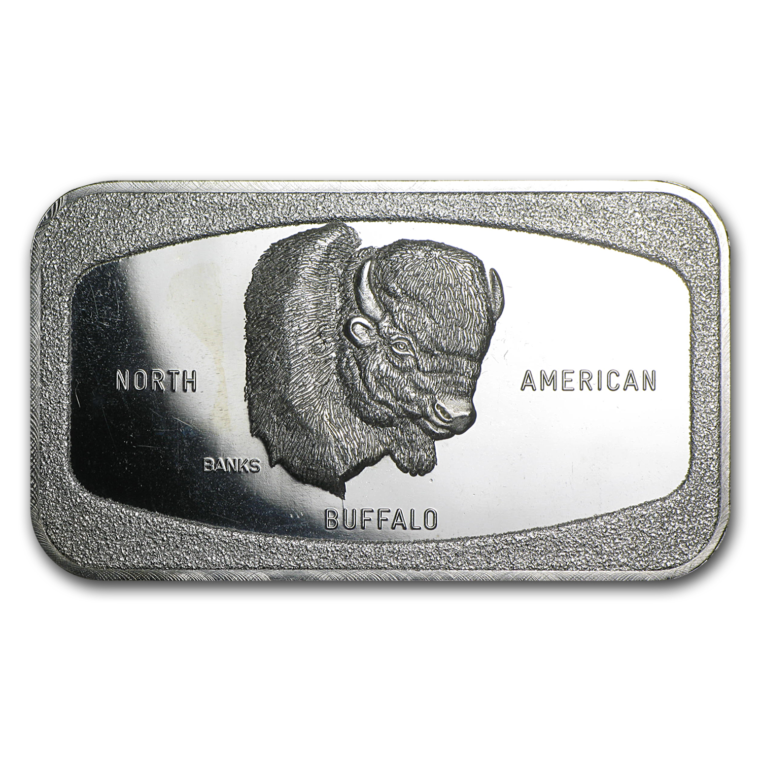 1 oz Silver Bar - Johnson Matthey & Mallory Western Mint, Buffalo