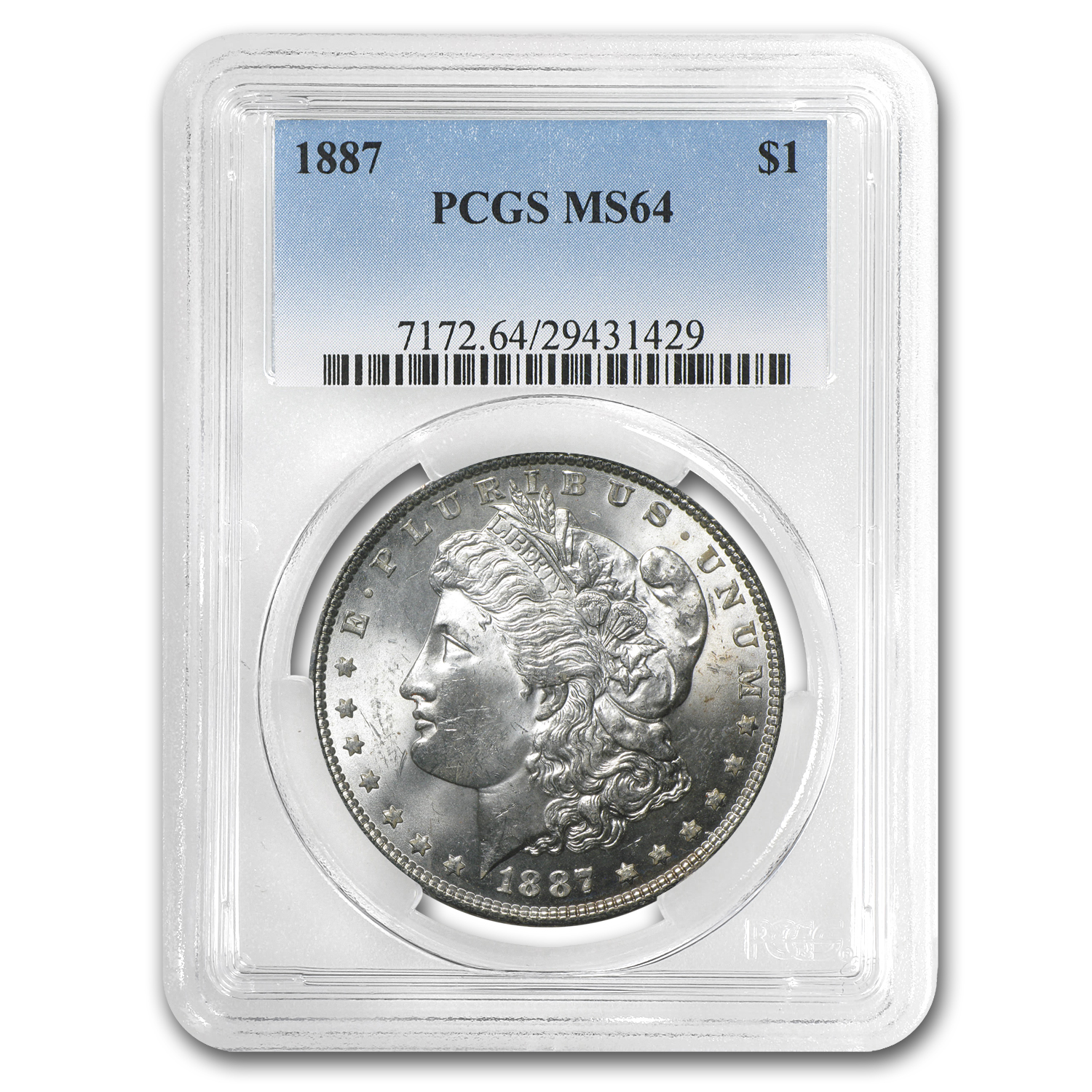 1878-1904 10-Different Morgan Dollars MS-64 PCGS