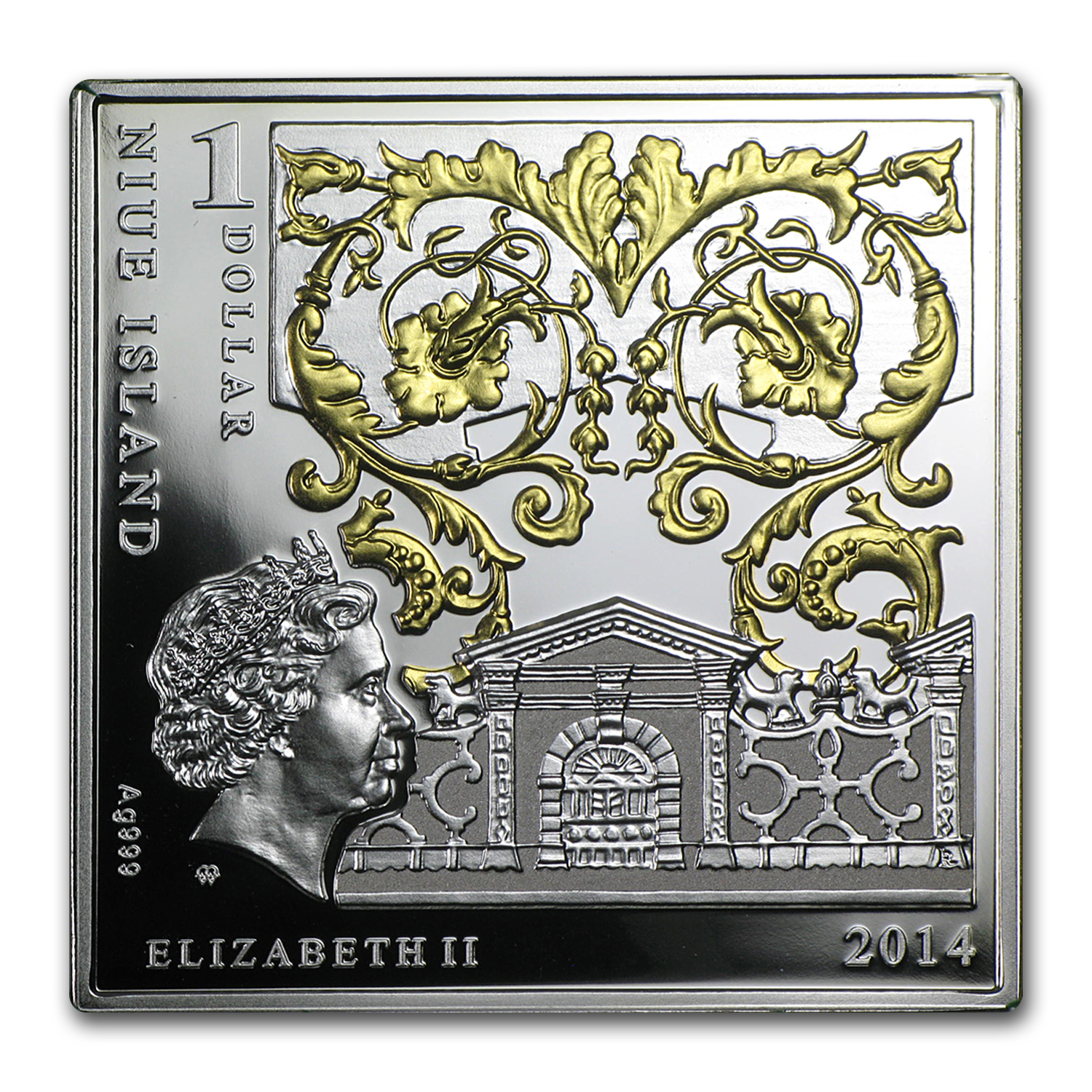 2014 Niue Silver Renaissance Masterpieces (Madonna of Carnation)