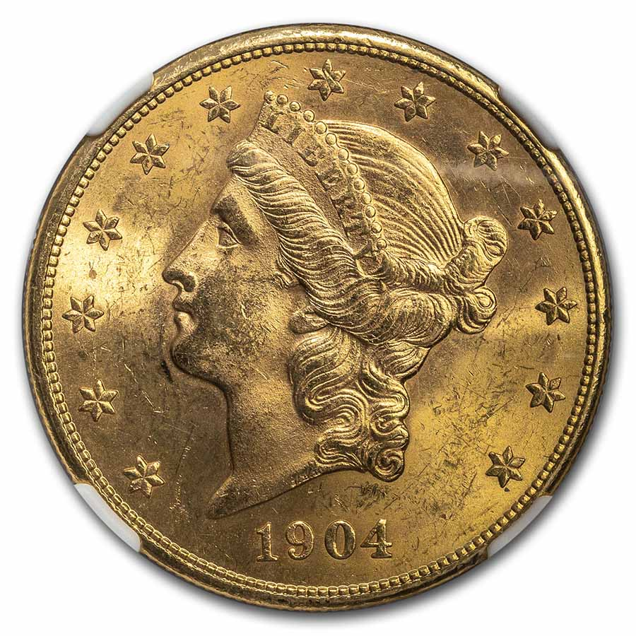 1904-S $20 Liberty Gold Double Eagle MS-64 NGC