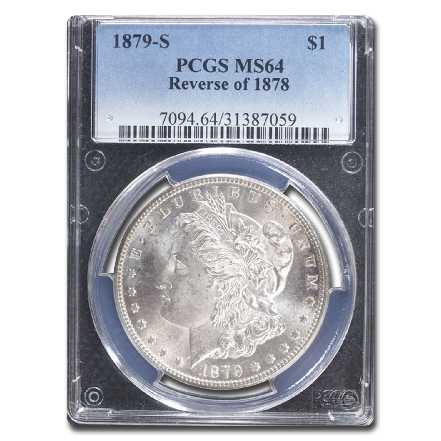 1879-S Morgan Dollar Rev of 1878 MS-64 PCGS