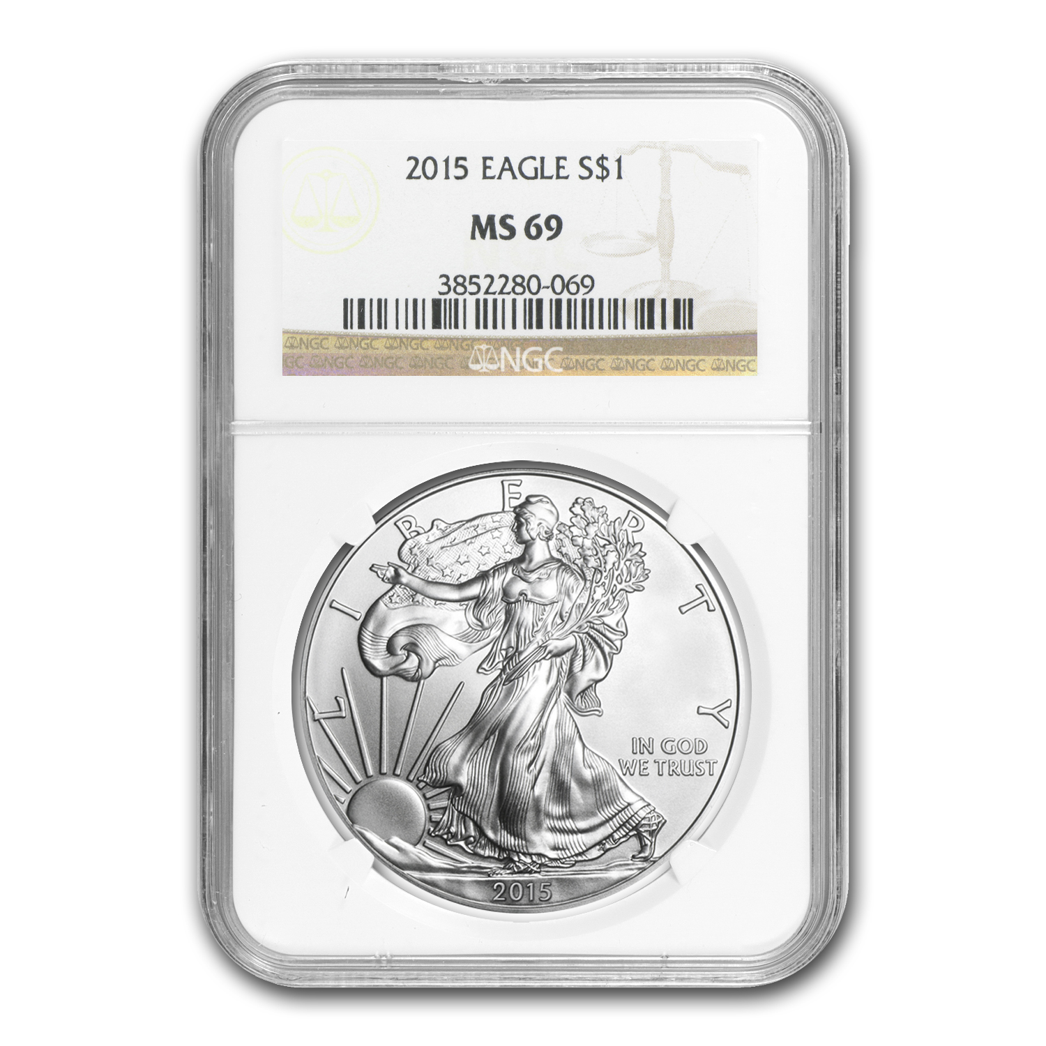 2015 Silver American Eagle MS-69 NGC
