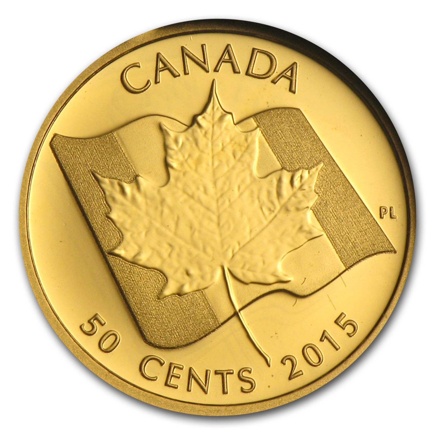 2015 Canada 1/25 oz Proof Gold $0.50 Maple Leaf