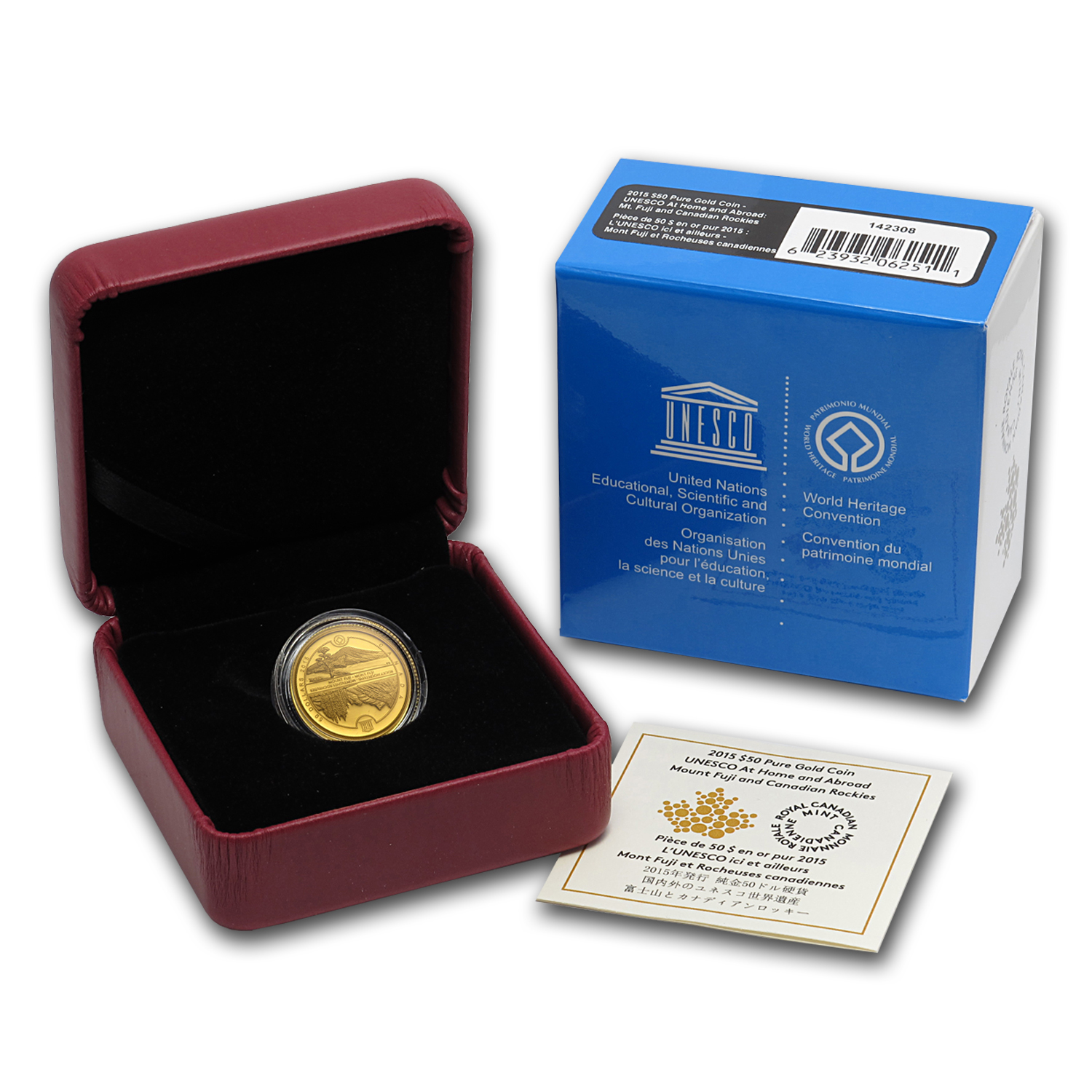 2015 Canada 1/4 oz Proof Gold $50 Unesco at Home & Abroad