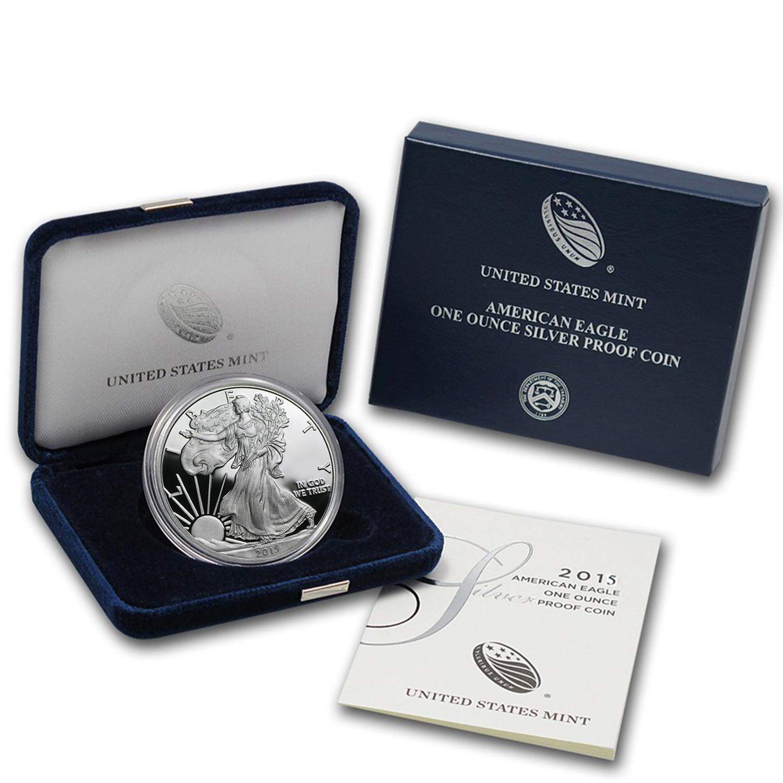 2015 1 oz Proof Silver American Eagle (w/Box & COA)