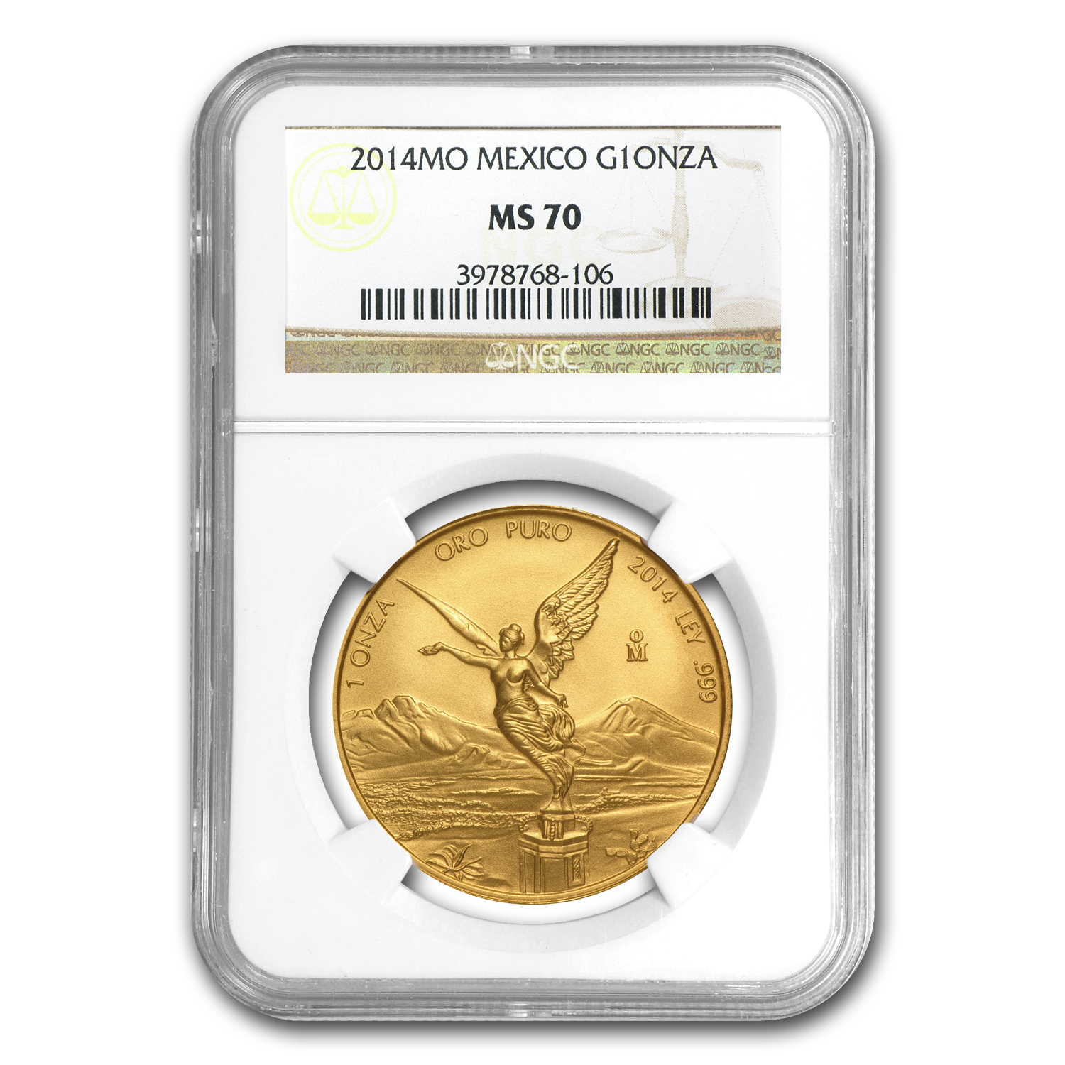 2014 Mexico 1 oz Gold Libertad MS-70 NGC