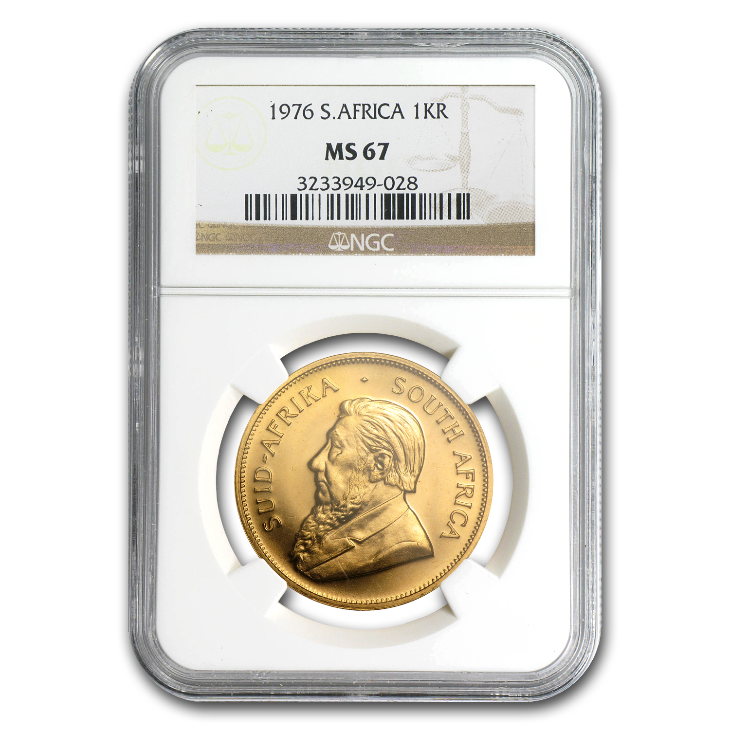 1976 South Africa 1 oz Gold Krugerrand MS-67 NGC