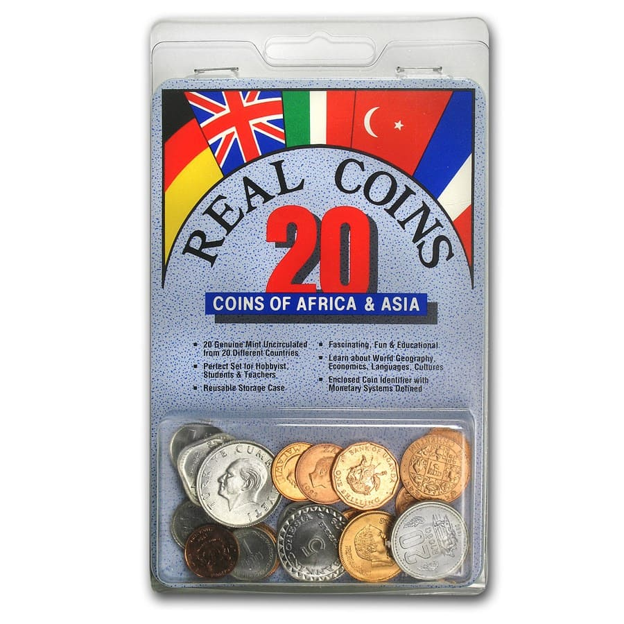 World Set 20-Coins of Africa and Asia
