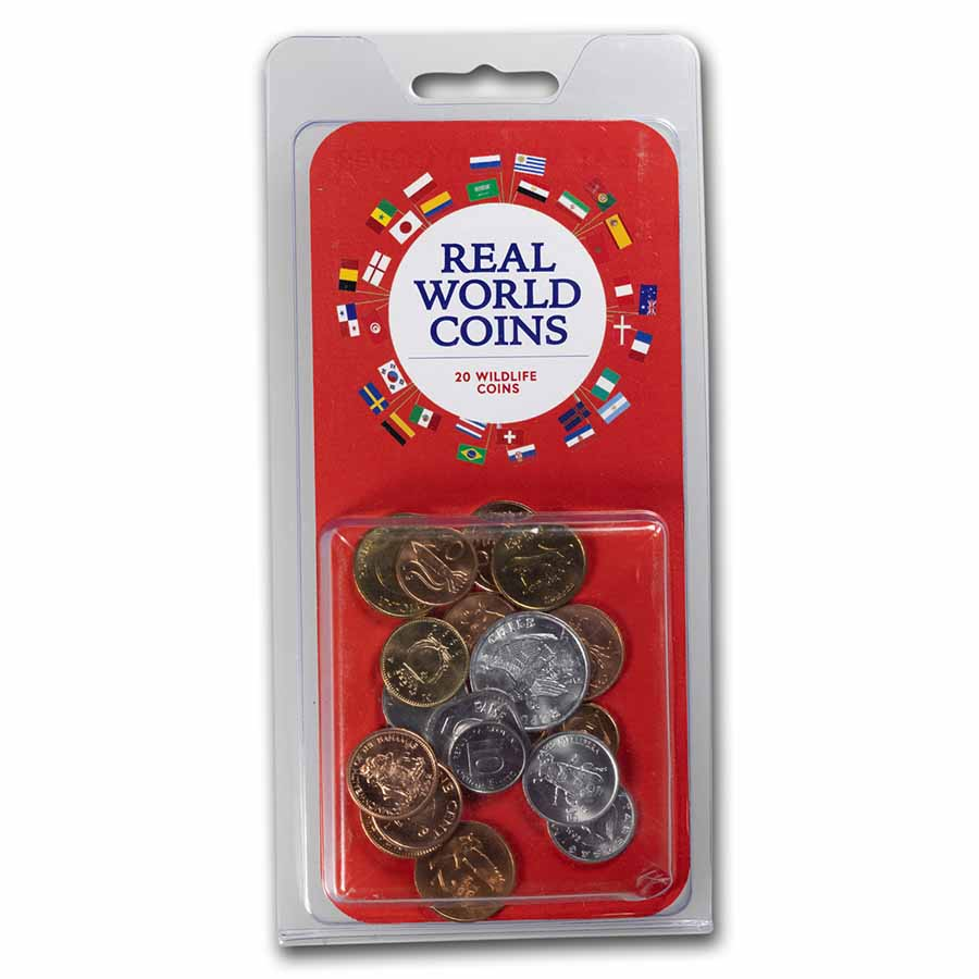 World Set 20-Coins Wildlife