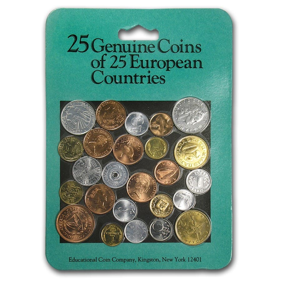 World Set 25-Coins of European Countries