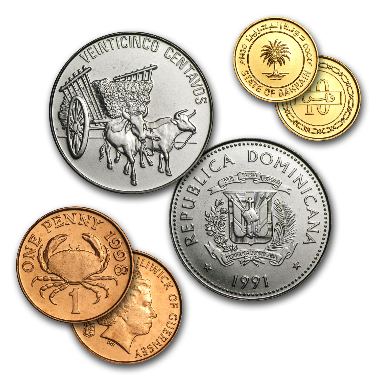 World Set 50-Coins of 50 Countries
