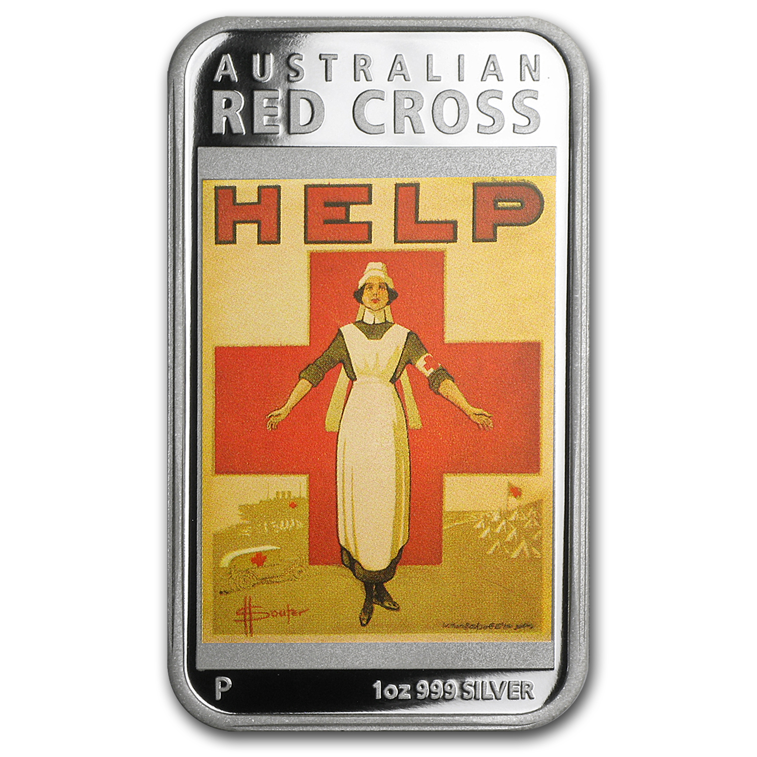 2015 Australia 1 oz Silver Posters of WWI Proof (Red Cross)