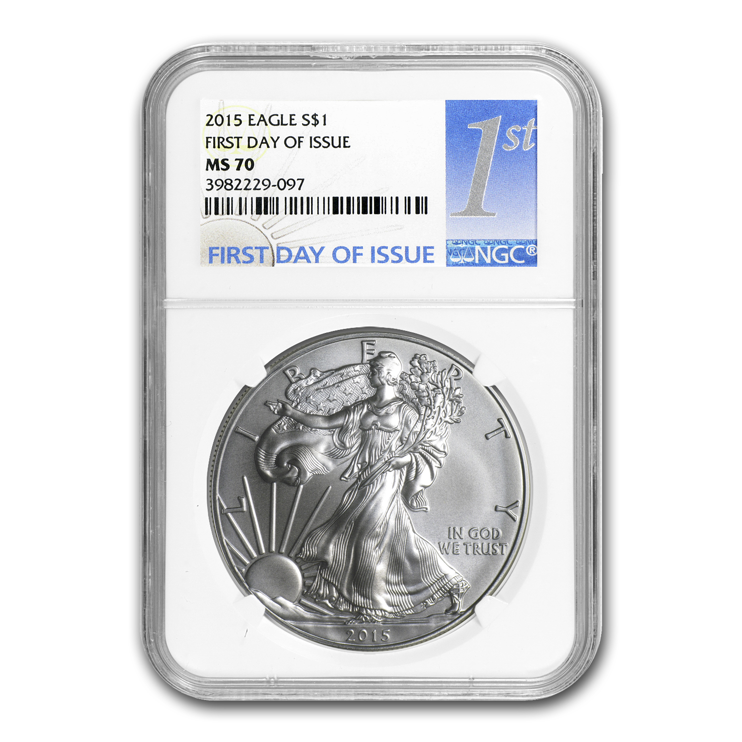 2015 Silver American Eagle MS-70 NGC (First Day Issue)