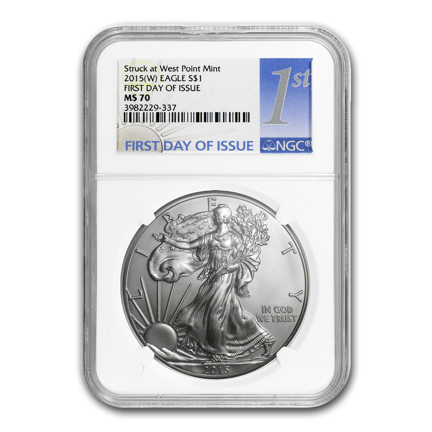 2015 (W) Silver American Eagle MS-70 NGC (First Day Issue)