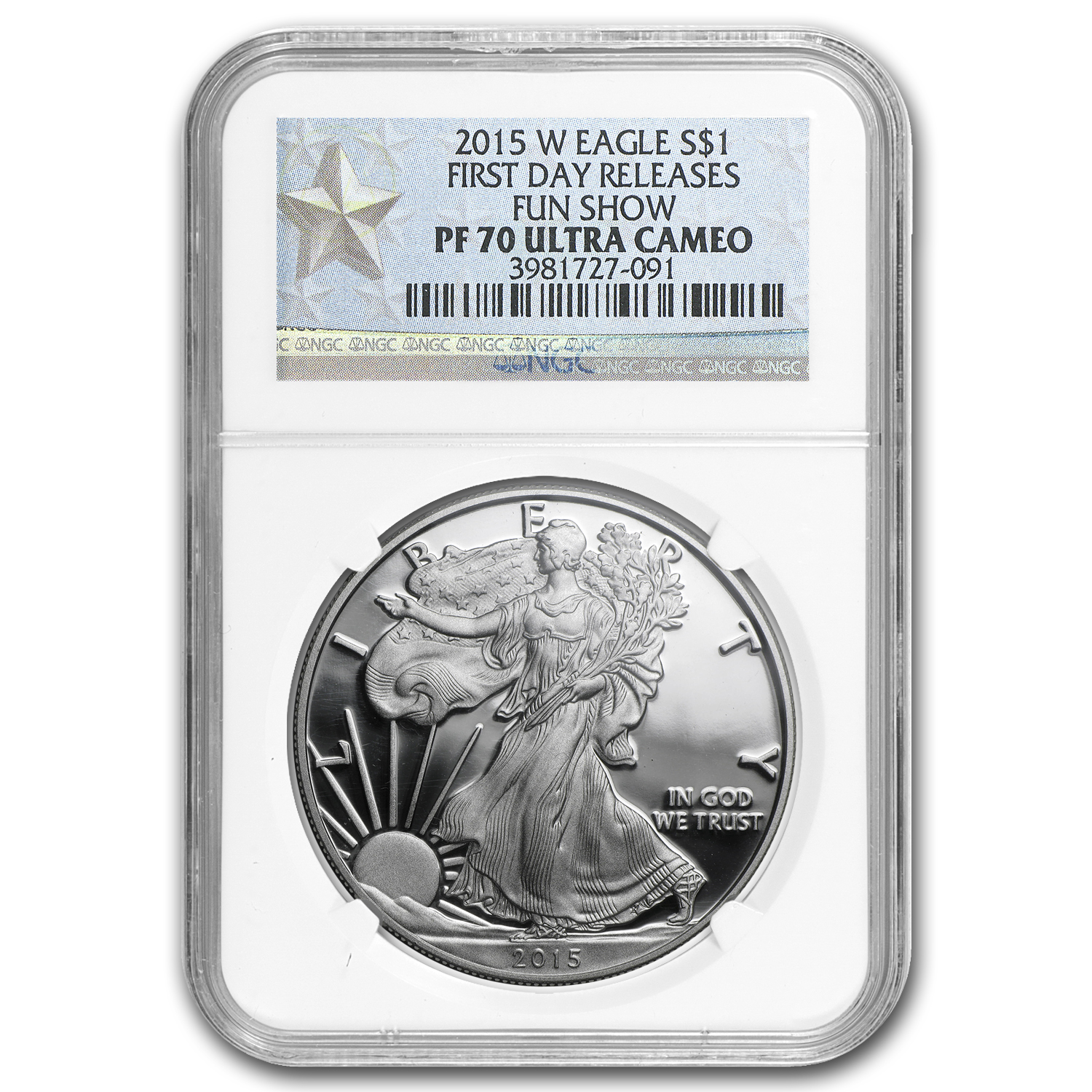 2015-W Proof Silver American Eagle PF-70 NGC (First Day Issue)