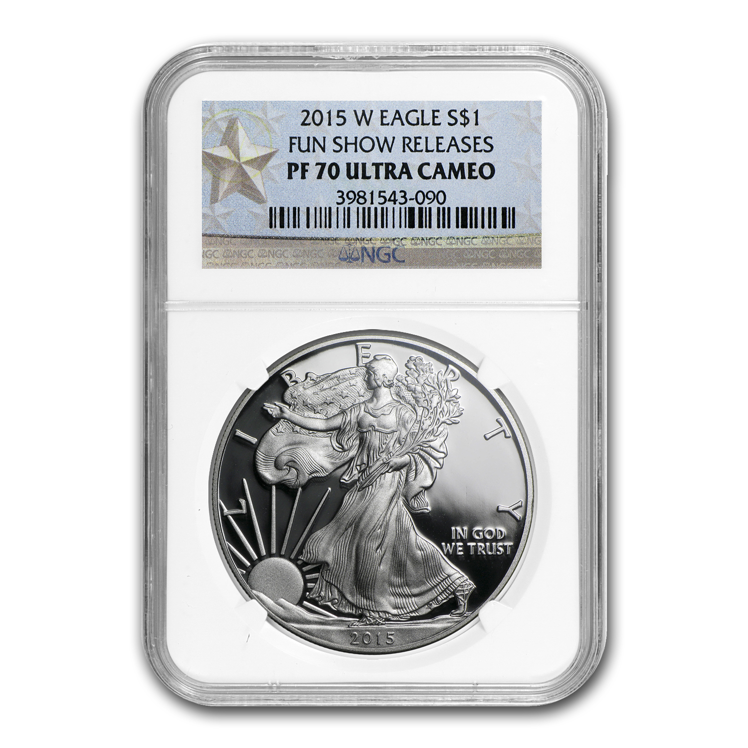 2015-W Proof Silver American Eagle PF-70 NGC (Fun Show Label)