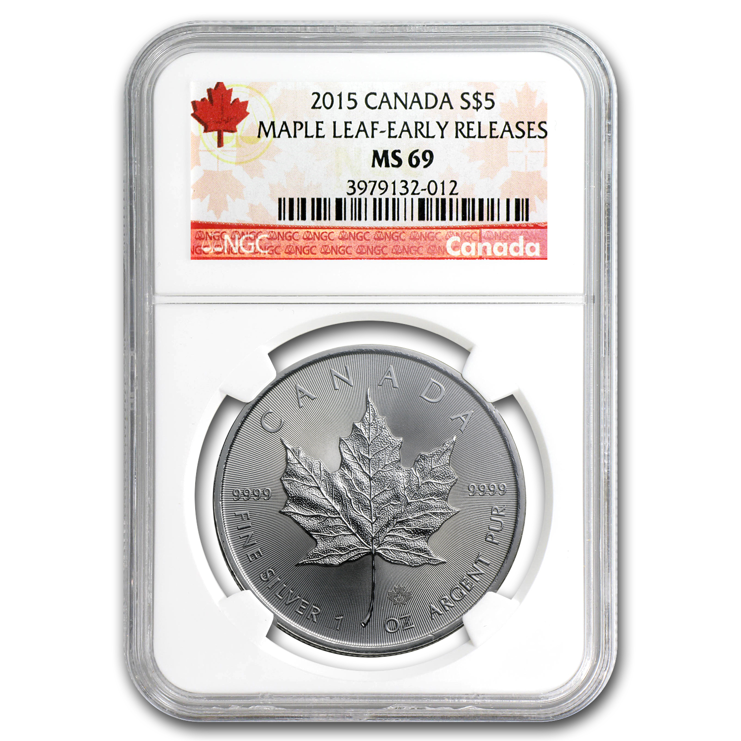 2015 Canada 1 oz Silver Maple Leaf MS-69 NGC (Early Release)
