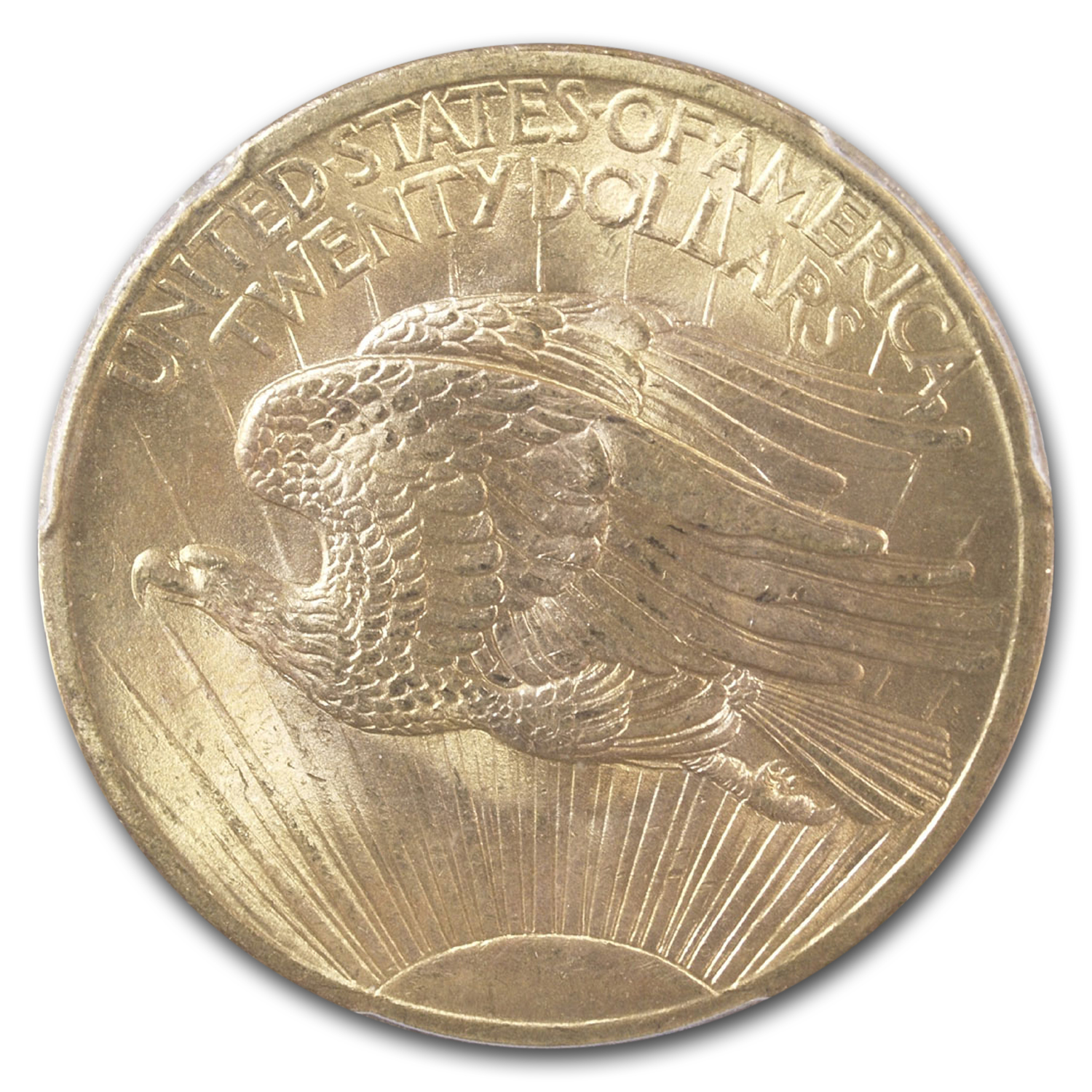 1907 $20 St. Gaudens Gold Double Eagle MS-65 PCGS