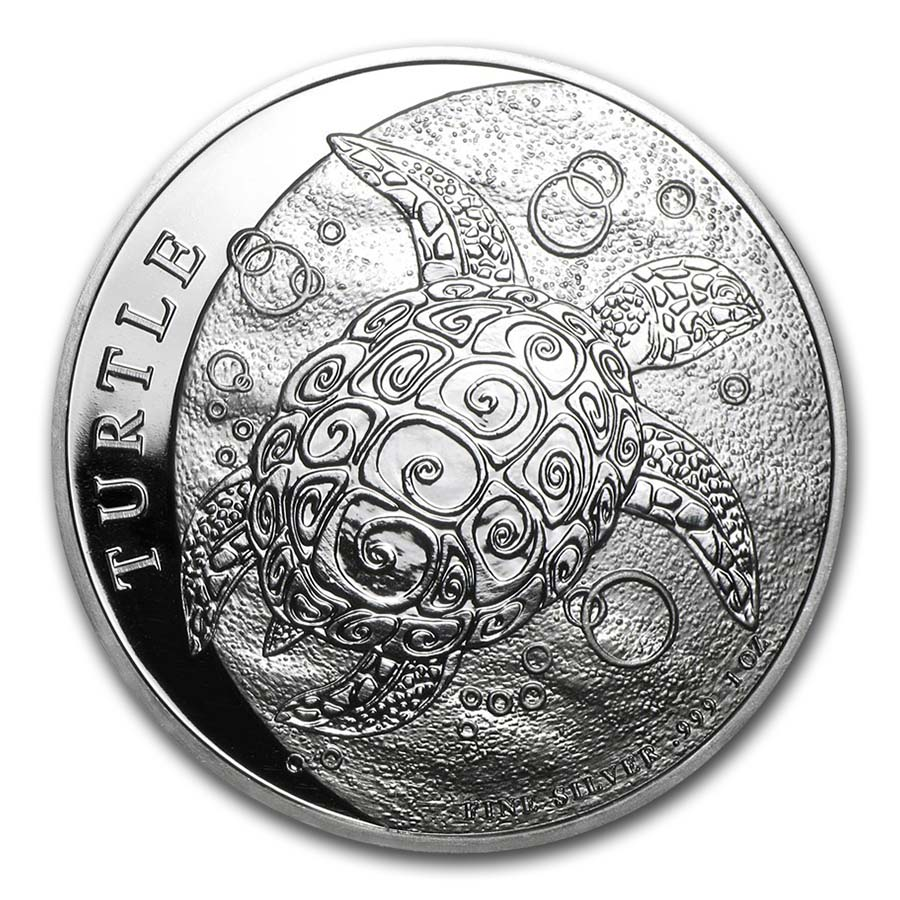 2015 Niue 1 Oz Silver Hawksbill Turtle Silver Coins New