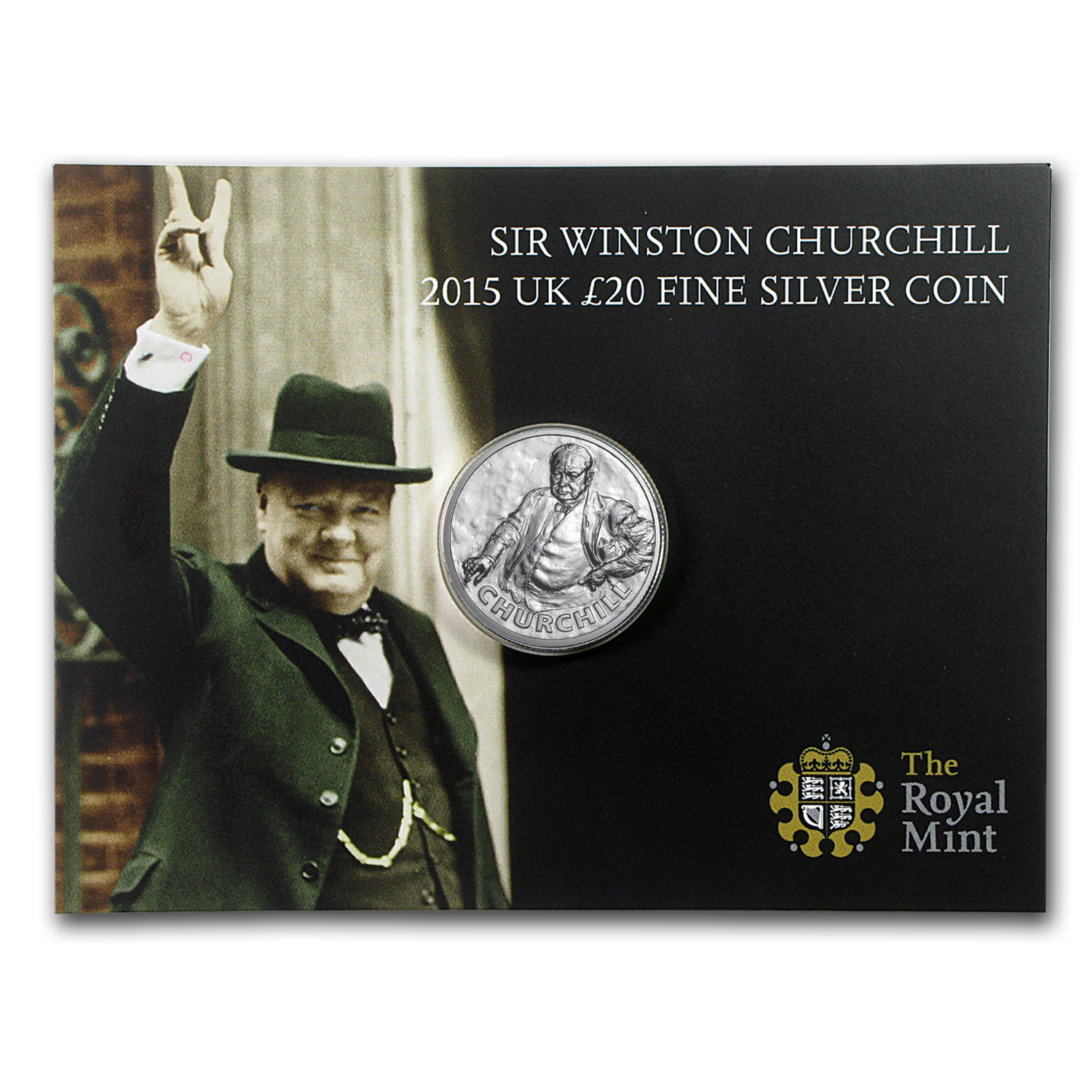 2015 Great Britain Silver £20 for £20 Sir Winston Churchill BU