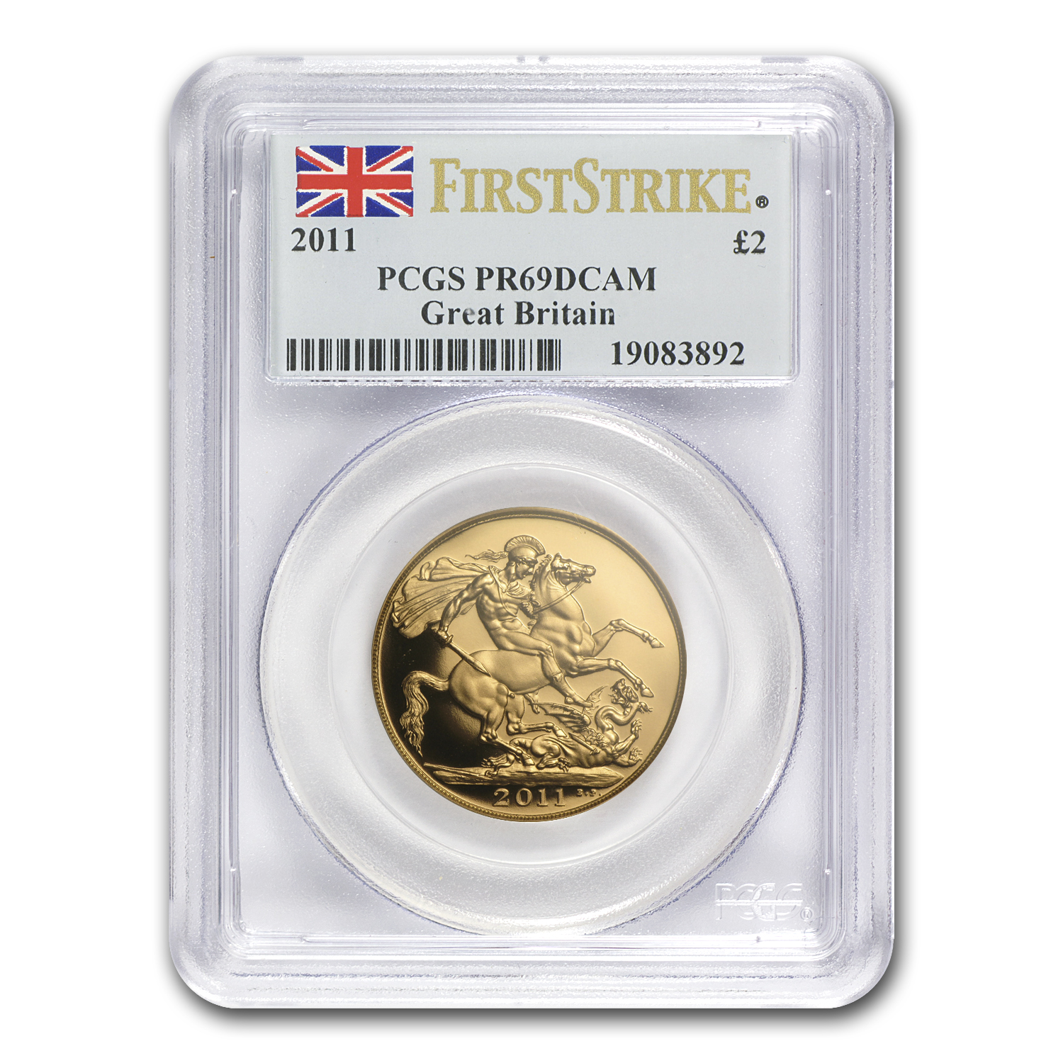 2011 Great Britain Gold £2 PR-69 PCGS (FS)