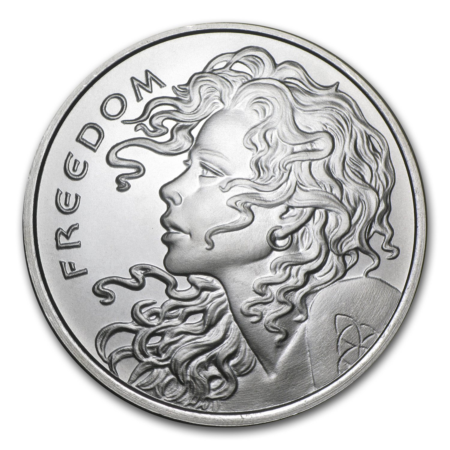 2015 1 oz Silver Round - Freedom Girl