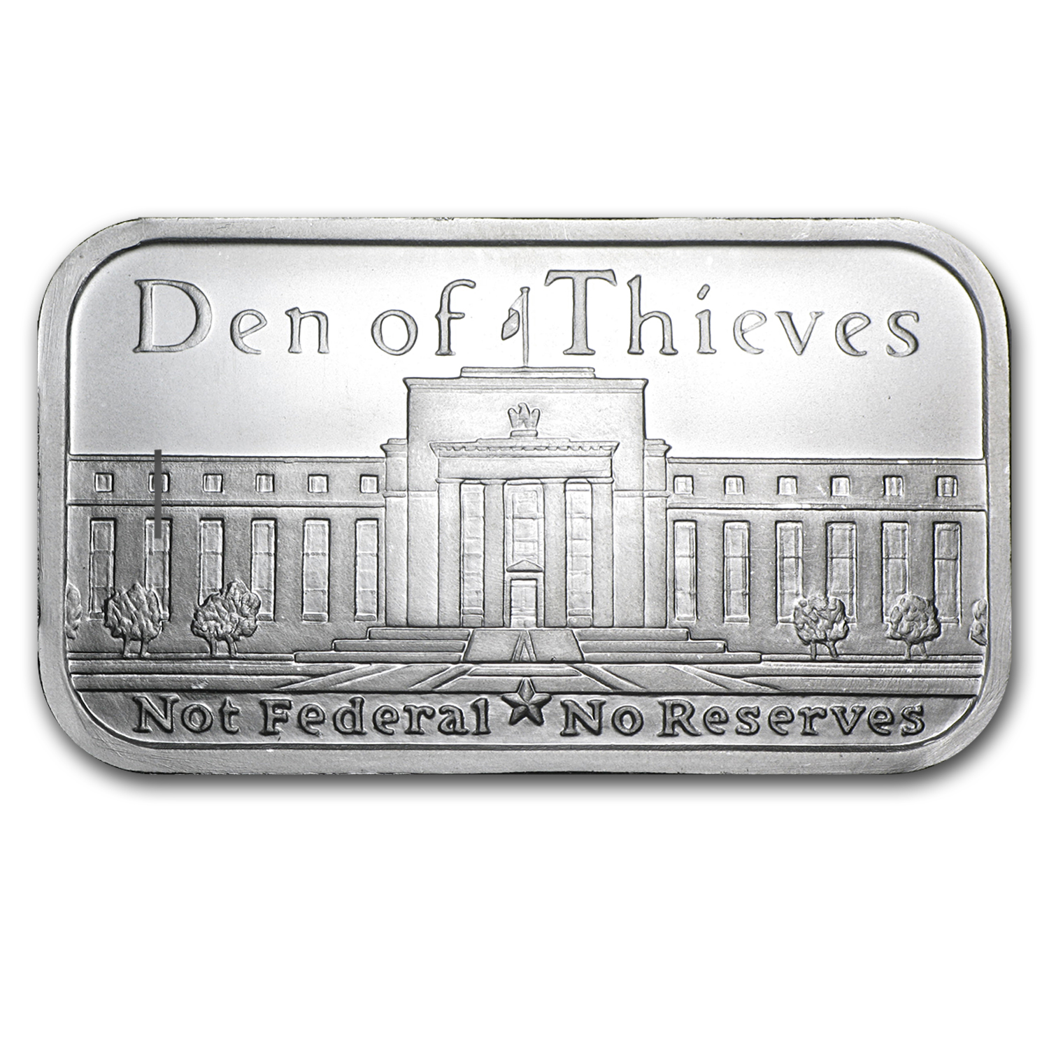 1 oz Silver Shield Bar - Den of Thieves