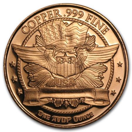 1 Oz Copper Round Indian Head Osborne Mint Copper Apmex