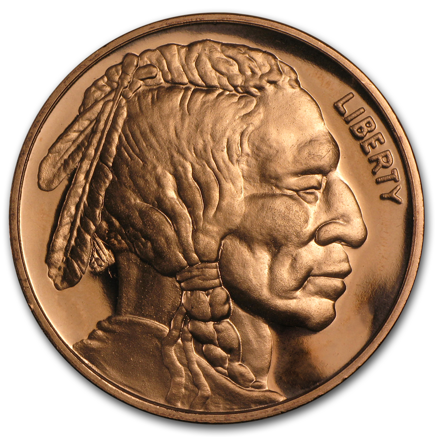 1 oz Copper Round - Indian Head