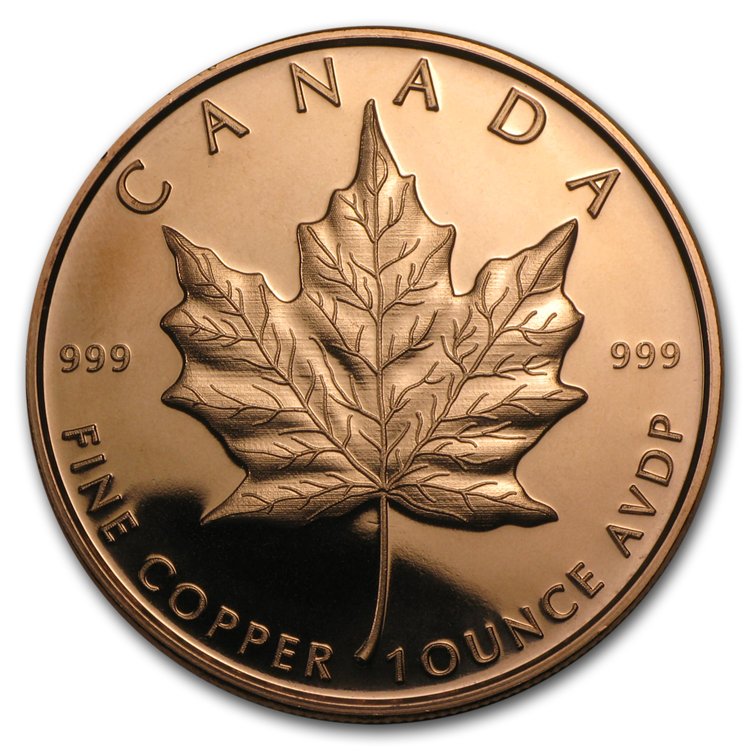 1 oz Copper Round - Maple Leaf