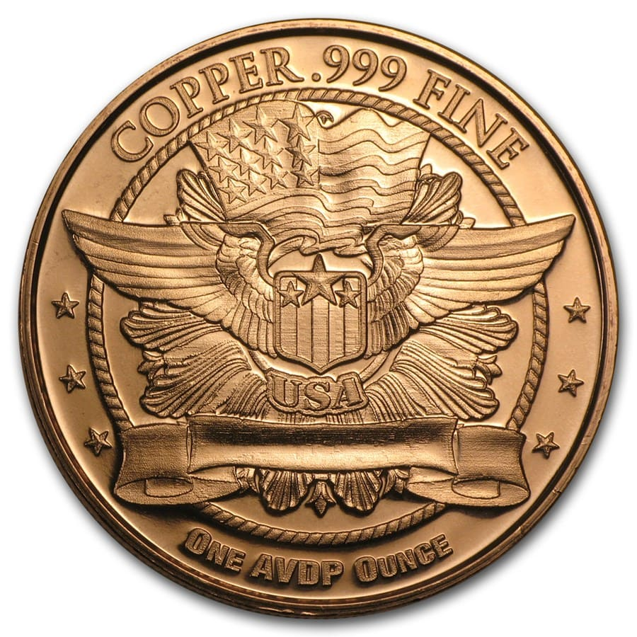 1 oz Copper Round - U.S. Quarter