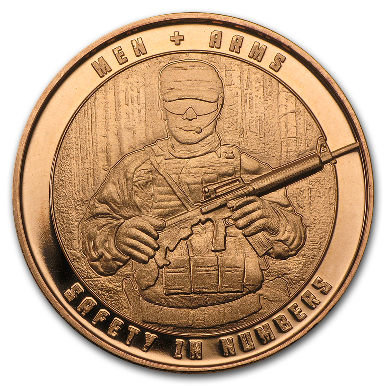 1 oz Copper Round - Men and Arms