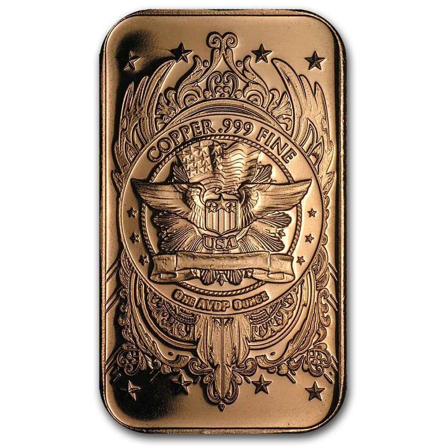 1 oz Copper Bar - Walking Liberty