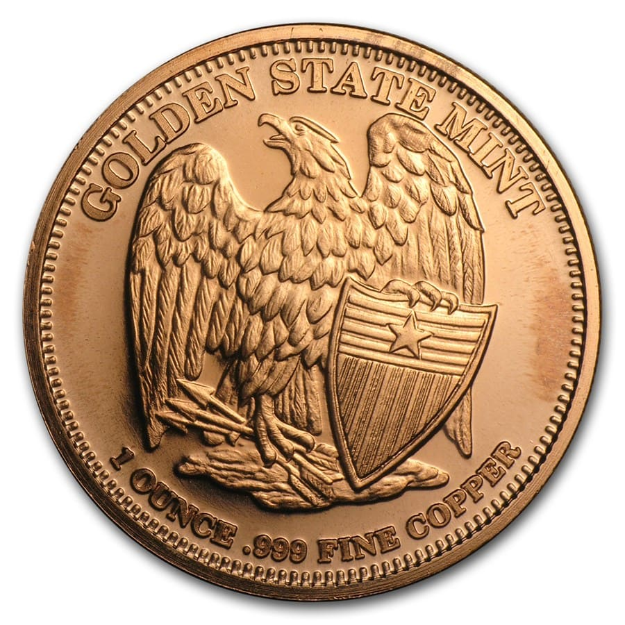 1 oz Copper Round - Don't Tread on Me - Tea Party