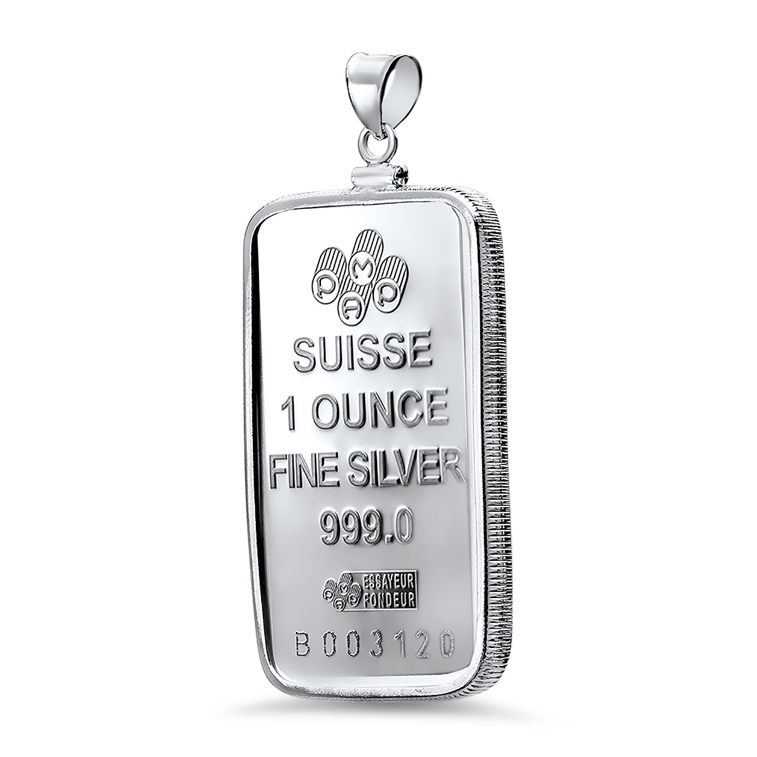 1 oz Silver Bar - PAMP Suisse Pendant (Fortuna)