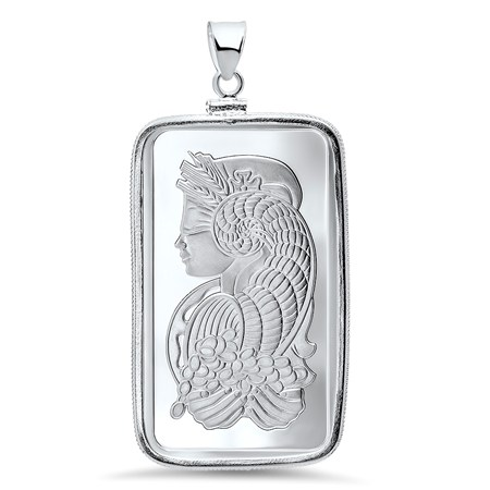 1 Oz Silver Bar Pamp Suisse Pendant Fortuna Silver