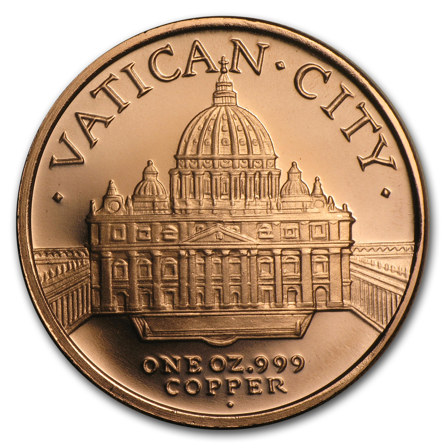 2013 1 oz Copper Round - Pope Francis