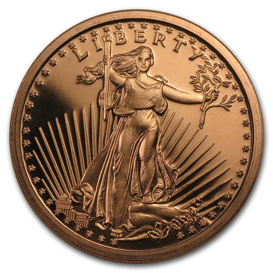 1 oz Copper Round - Saint-Gaudens
