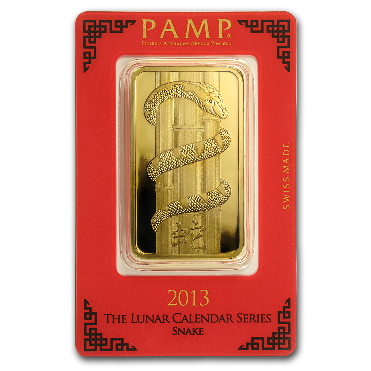 100 gram Gold Bar - PAMP Suisse Year of the Snake (In Assay)