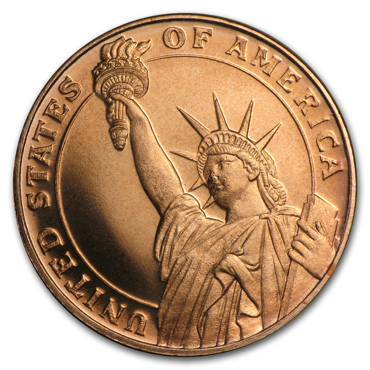 1/4 oz Copper Round - Statue of Liberty (20 count tube)