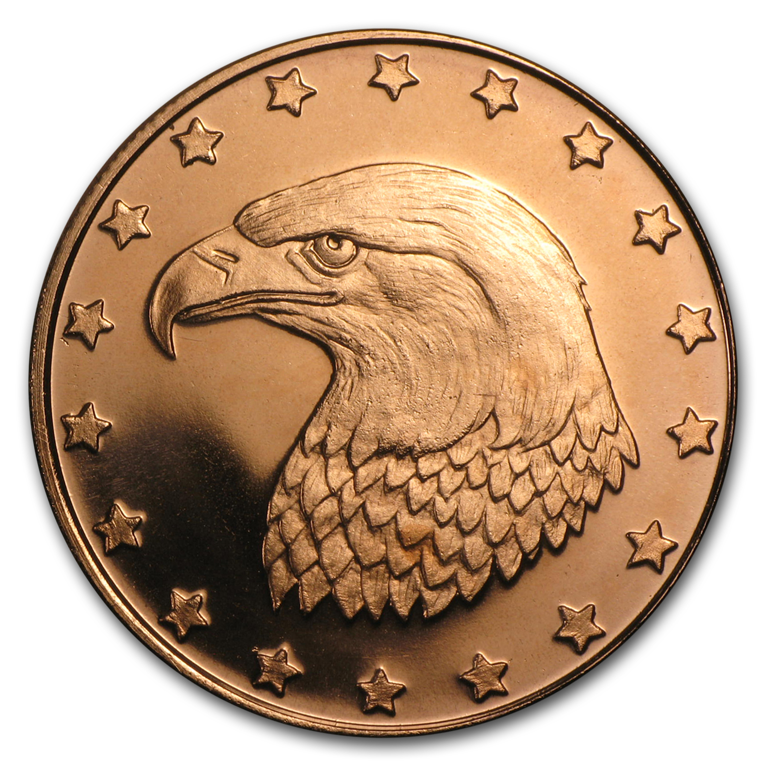 1/2 oz Copper Round - Eagle Head (20 count tube)