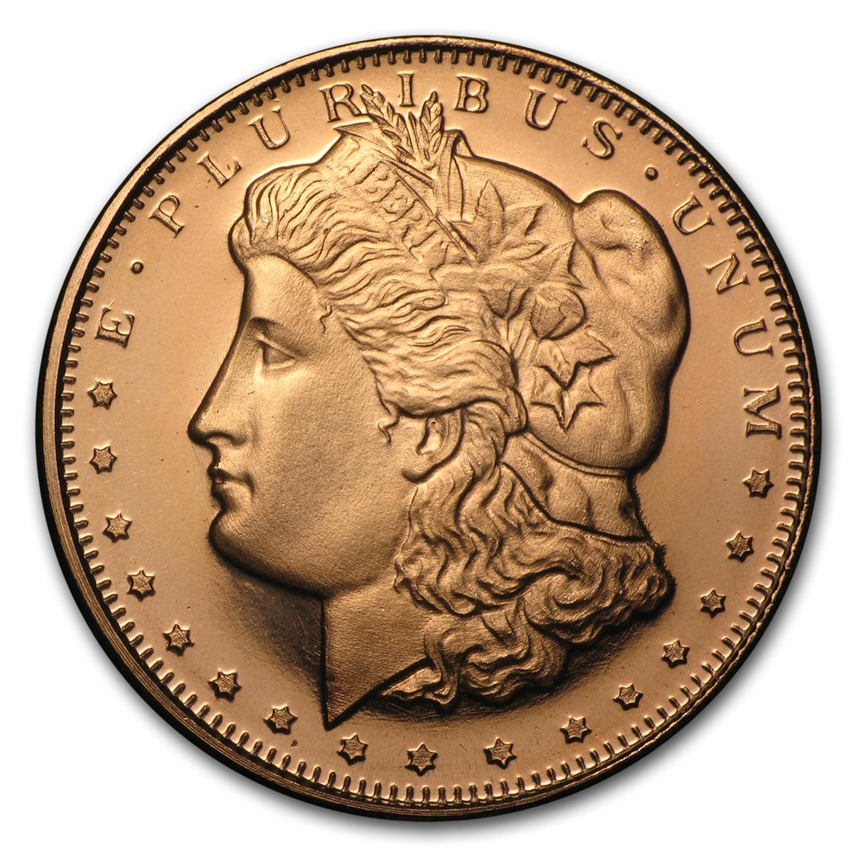 1 2 Oz Copper Round Morgan Dollar 20 Count Tube