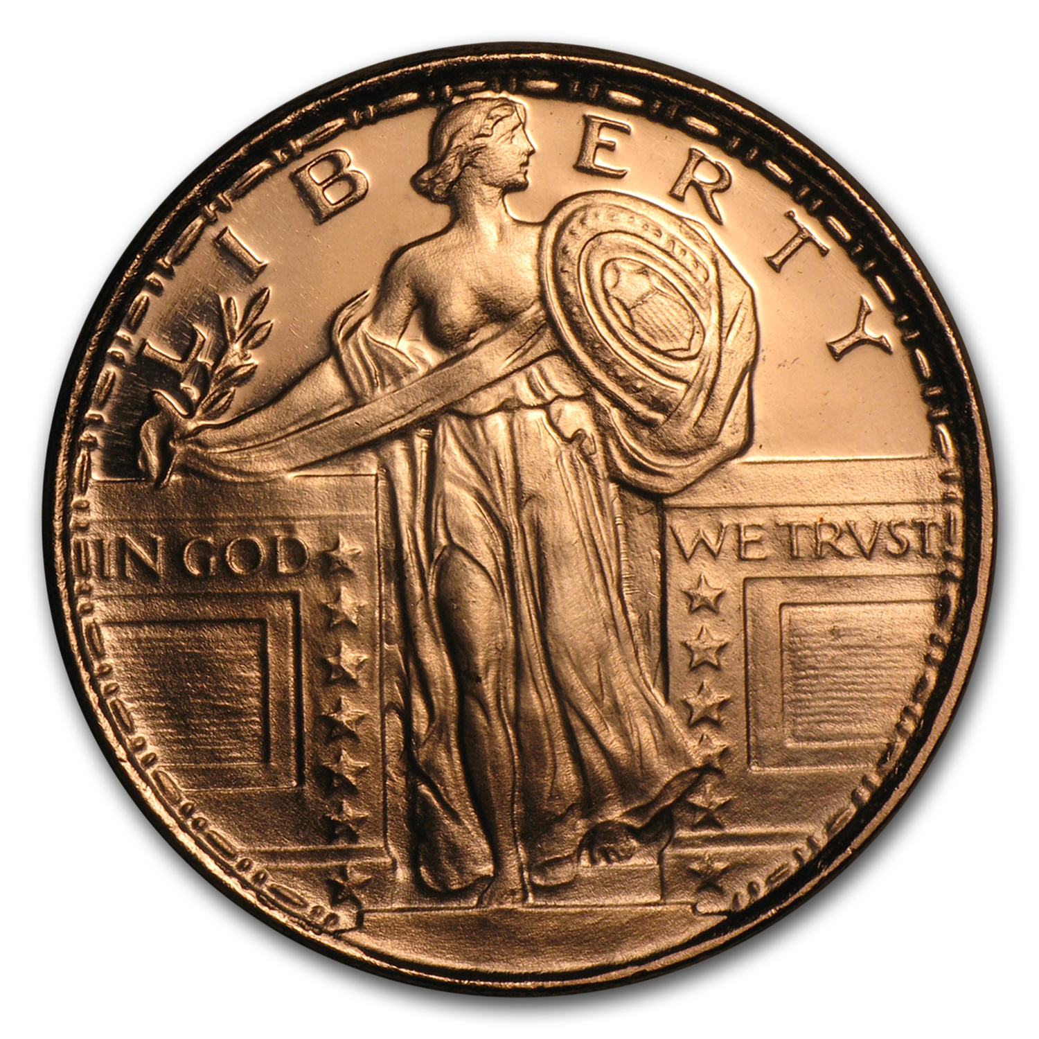 1/2 oz Copper Round - Standing Liberty (20 count tube)