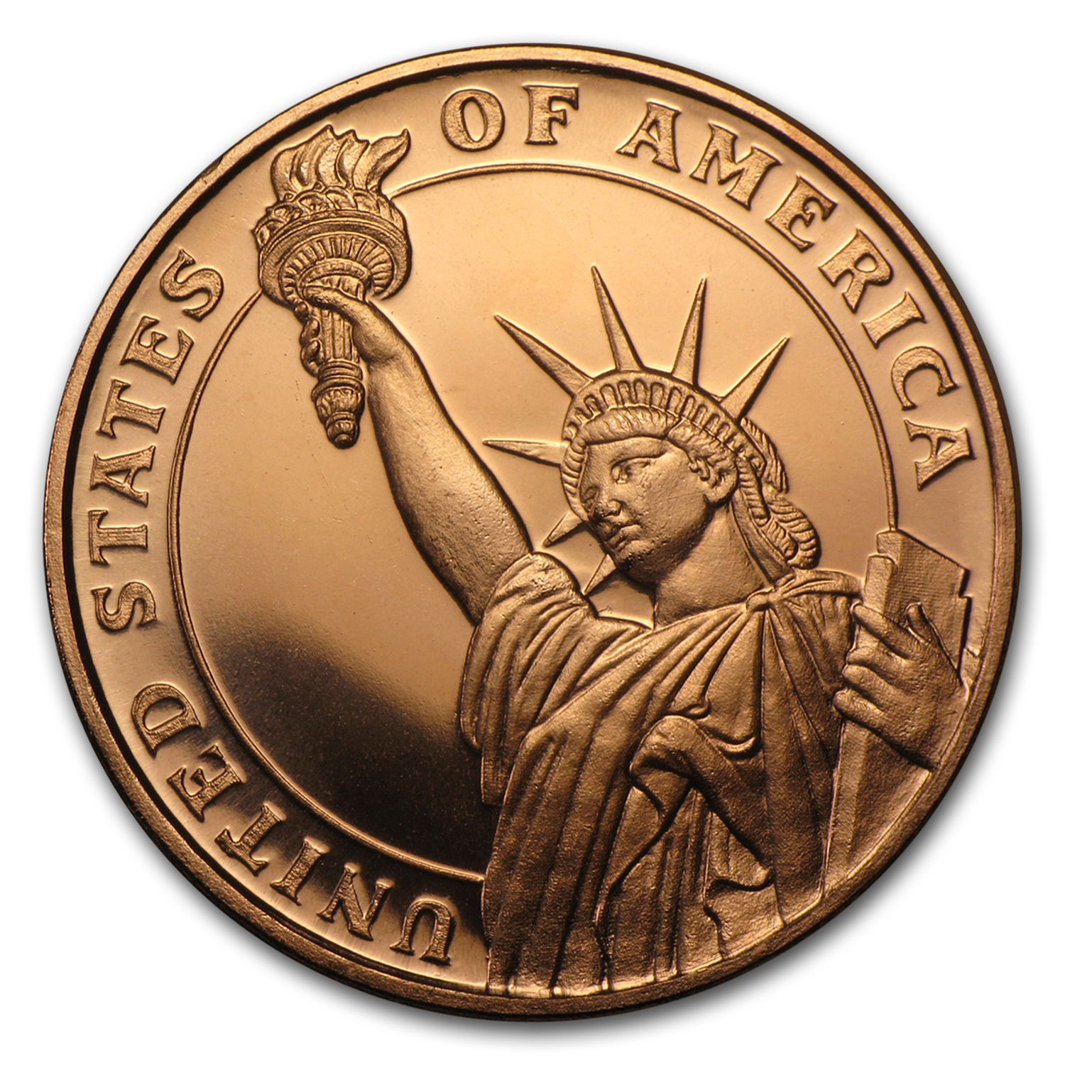 1/2 oz Copper Round - Statue of Liberty (20 count tube)