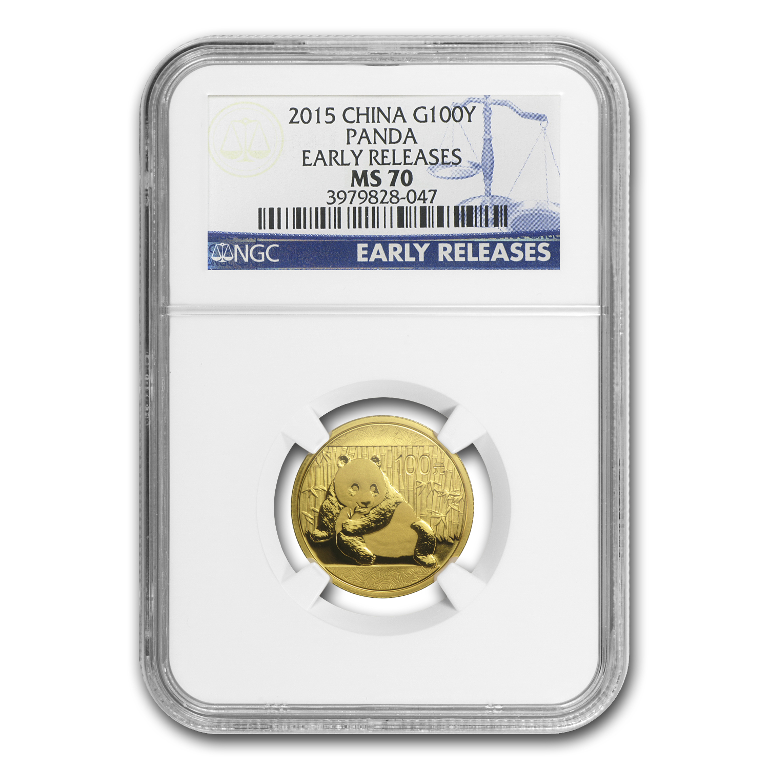 2015 China 1/4 oz Gold Panda MS-70 NGC (Early Releases)