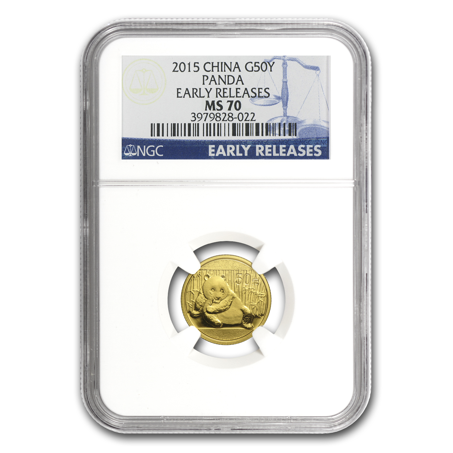 2015 China 1/10 oz Gold Panda MS-70 NGC (Early Releases)