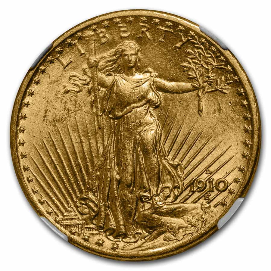 1910-D $20 St. Gaudens Gold Double Eagle - MS-63 NGC