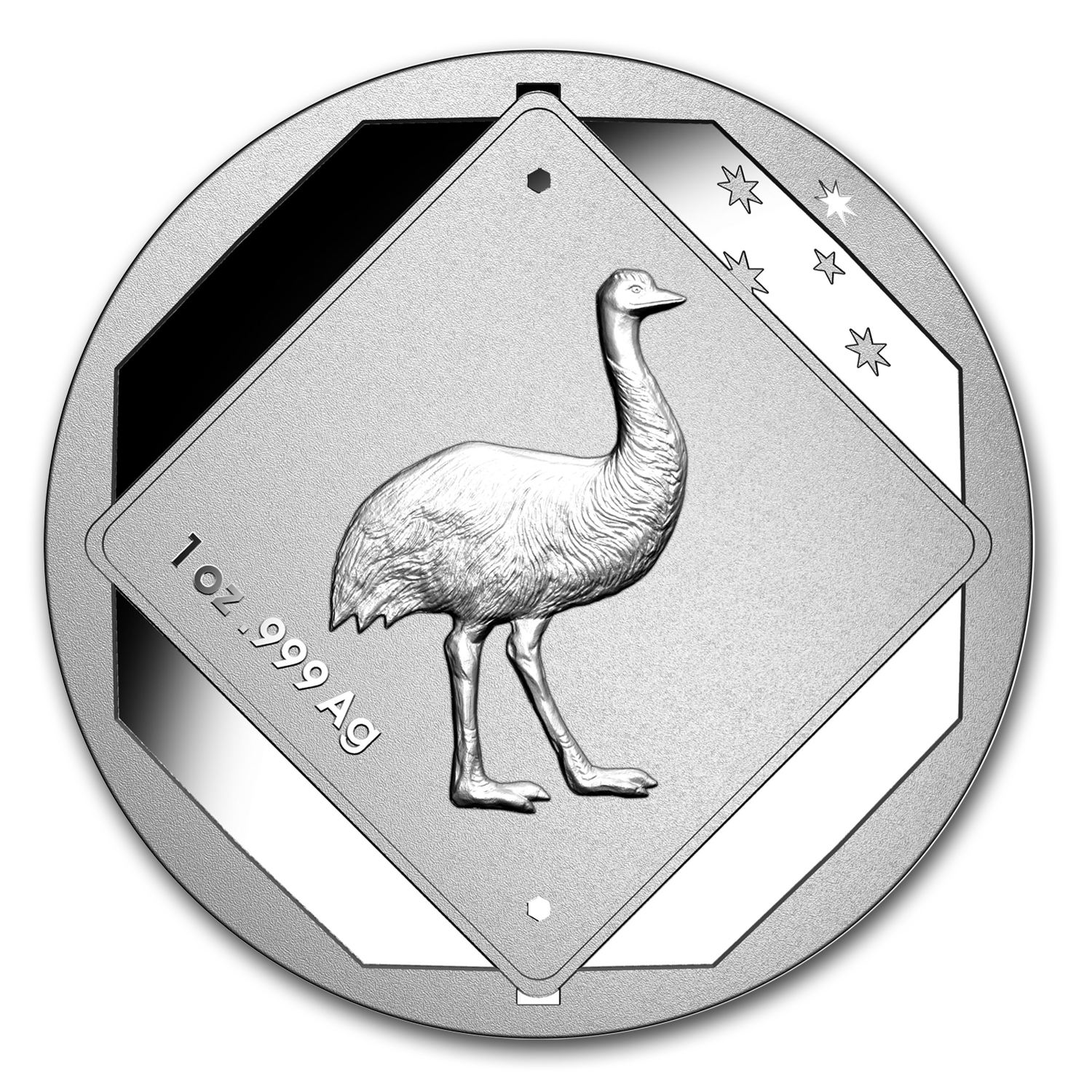 2015 Australia 1 oz Silver Emu Road Sign BU