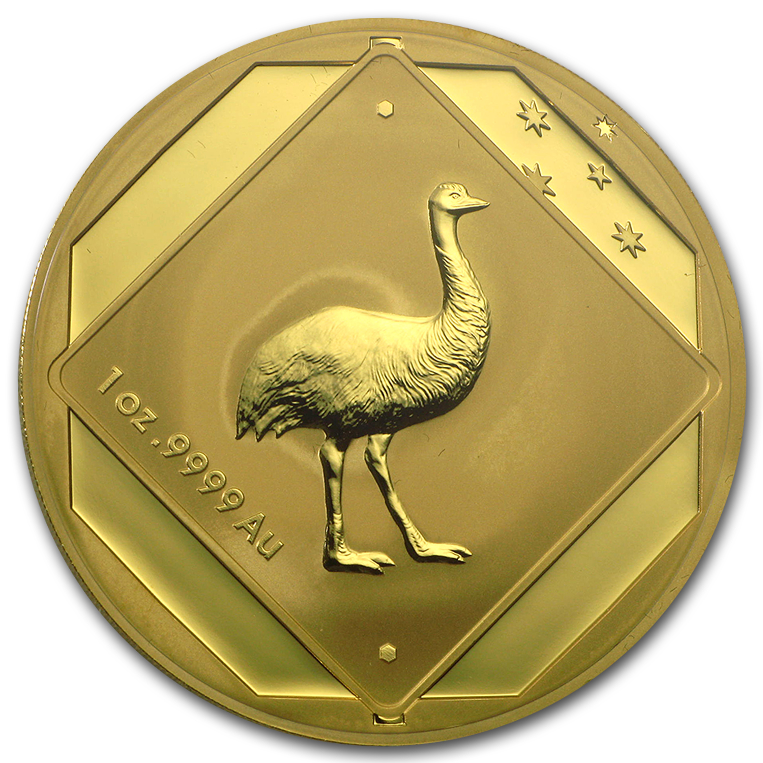 2015 Australia 1 oz Gold $100 Emu Road Sign BU