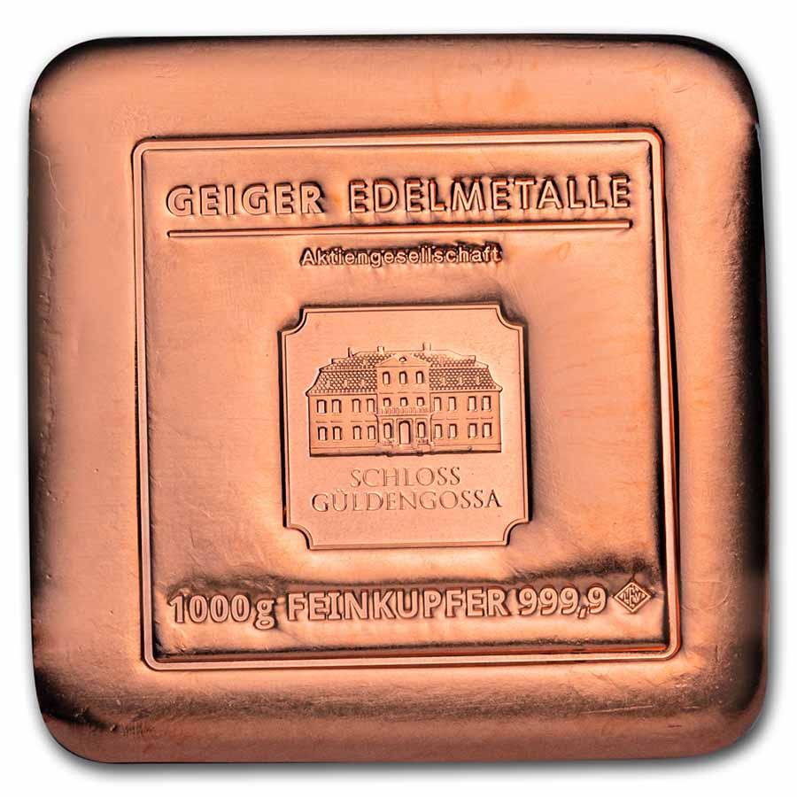 1000 Gram Copper Bar Geiger Security Line Series
